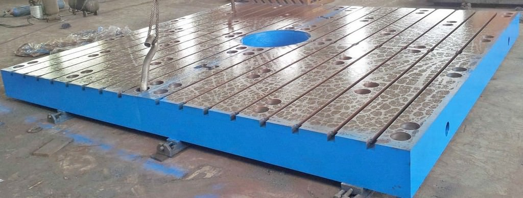 T-Slotted-Floor-Plates-(2)-86-x-157-Brand-New-Cast-Iron