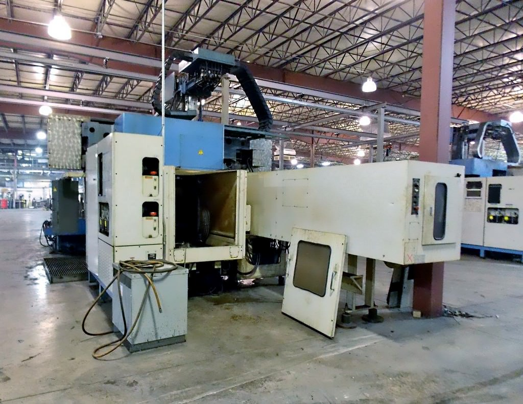 MAZAK Versatech V40 CNC 5-Face Double Column Vertical Machining Center-25057b