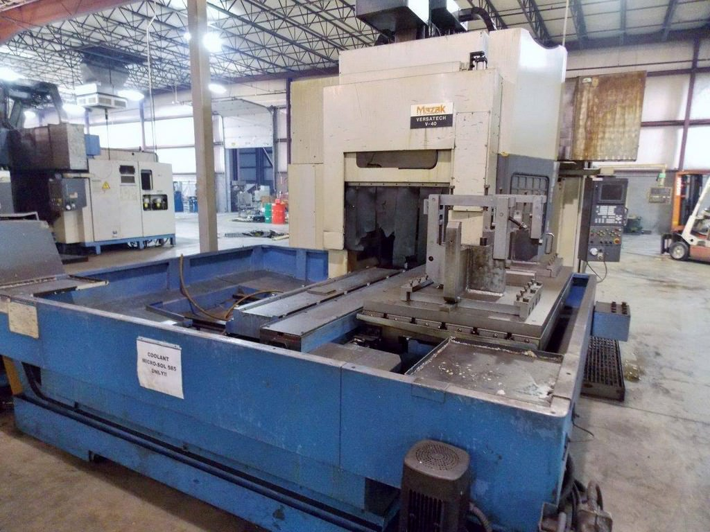 MAZAK Versatech V40 CNC 5-Face Double Column Vertical Machining Center-25057d