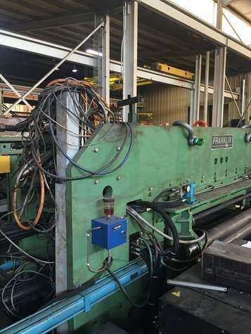 Franklin PF 196 x 72 CNC Plasma/Punch Fabricator-26284b