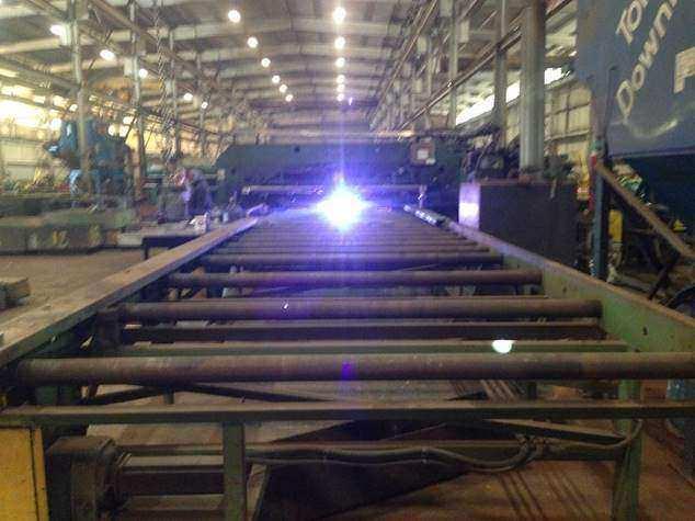 Franklin PF 196 x 72 CNC Plasma/Punch Fabricator-26284c