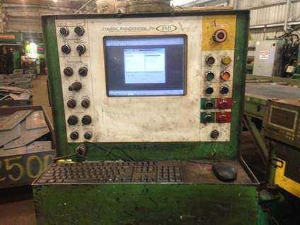 Franklin PF 196 x 72 CNC Plasma/Punch Fabricator-26284d