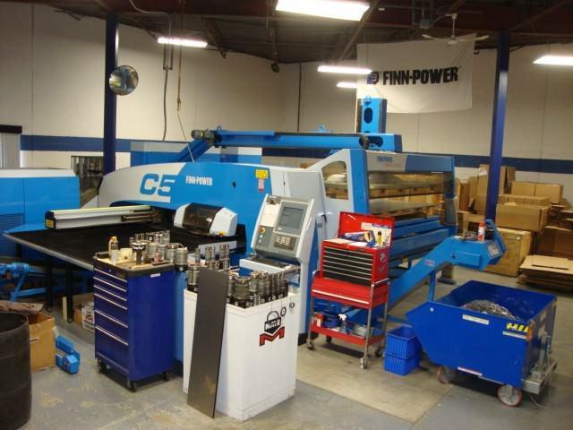 33-Ton-Finn-Power-C5-CNC-Turret-Punch-Press-w-Load-Unload