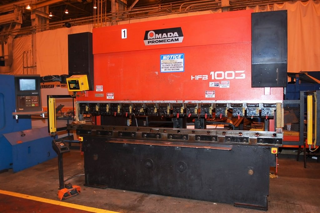 AMADA-HFB-1003-110-Ton-x-10-8-Axis-CNC-Downacting-Hydraulic-Press-Brake