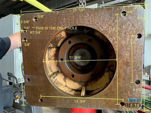 Right Angle Head From 100 MM  TOS H100A Boring Mill -29339a
