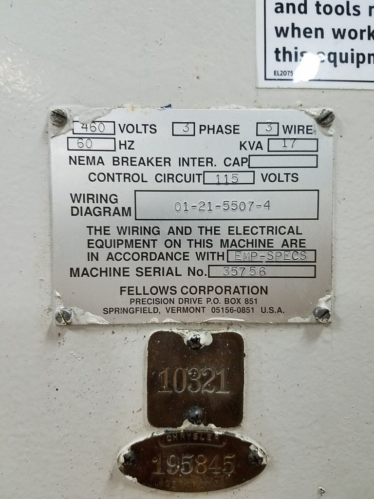 FELLOWS 10-2 / 10-4 CNC Gear Shaper-29370d