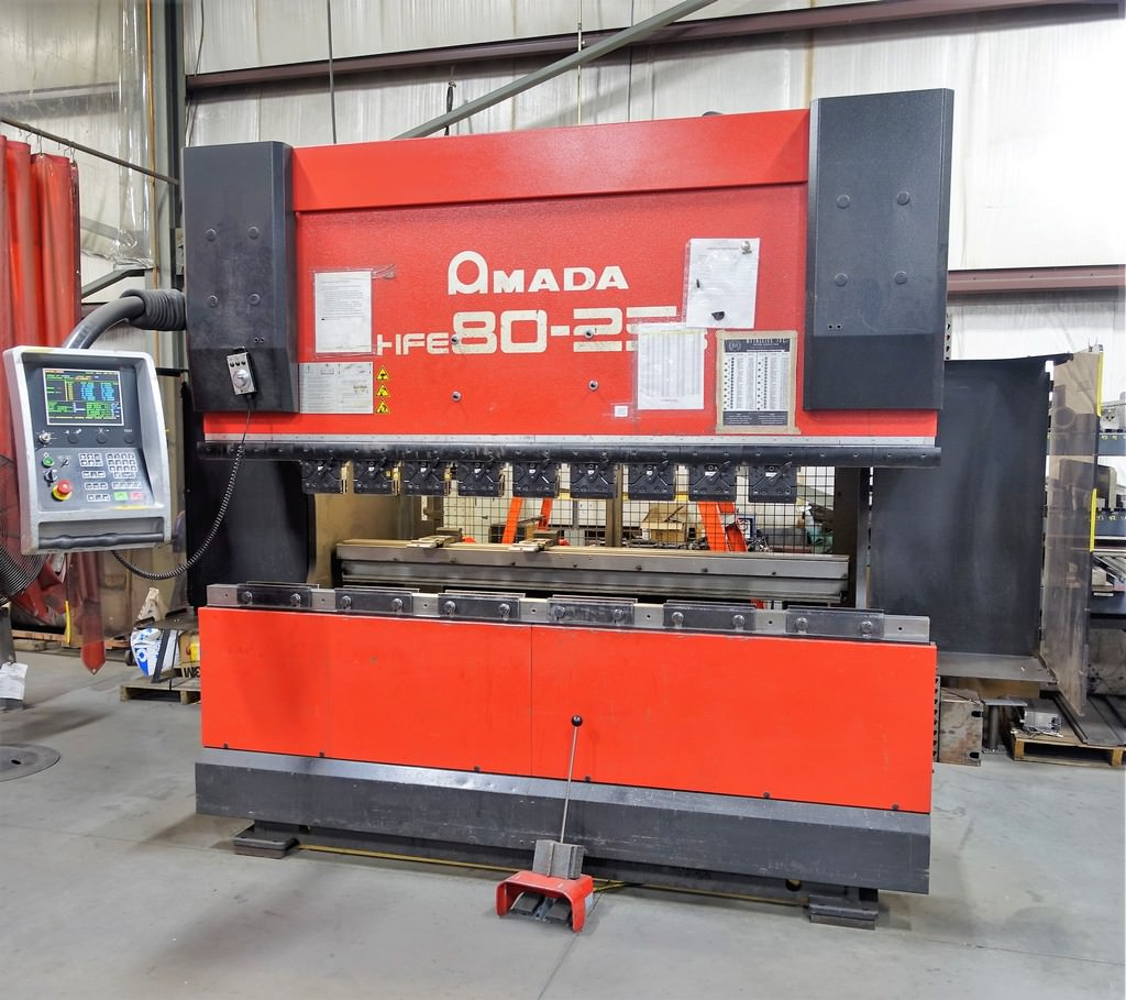 AMADA-HFE8025S-88-Ton-8-Axis-CNC-Hydraulic-Down-Acting-Press-Brake