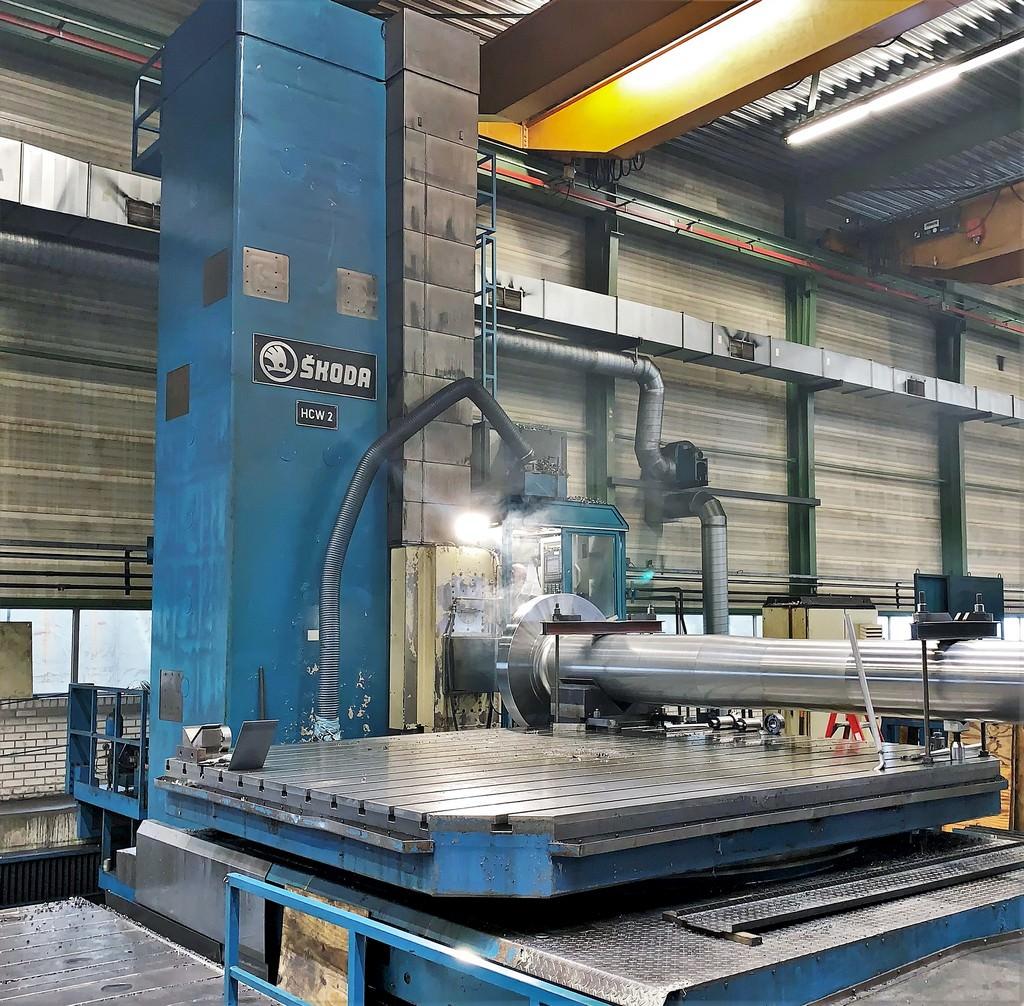Skoda-HCW2-180NC-7.08-Ram-Type-CNC-Floor-Type-Horizontal-Boring-Mill
