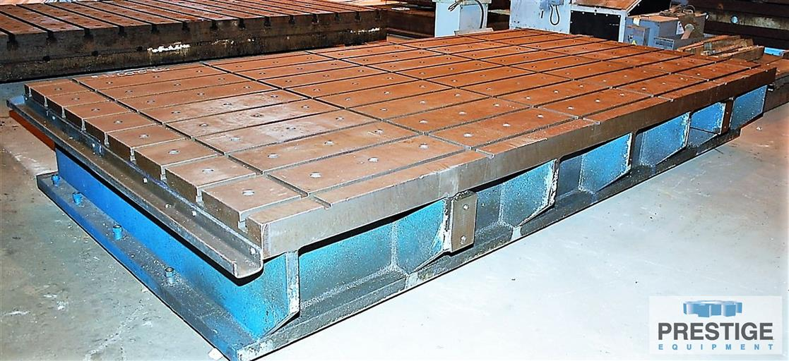 T-Slotted-Fixture-Table-(1)-88-x-168-x-22-Steel-Fabricated