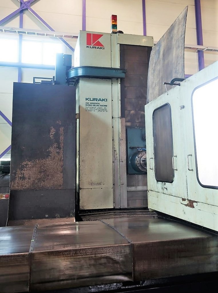 Kuraki-KBT-13A-CNC-5.12-Table-Type-Horizontal-Boring-Mill