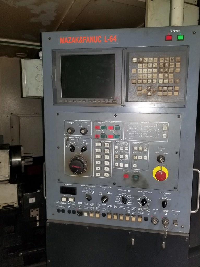 Mazak Space Gear U44 2500 Watt Laser-30393b