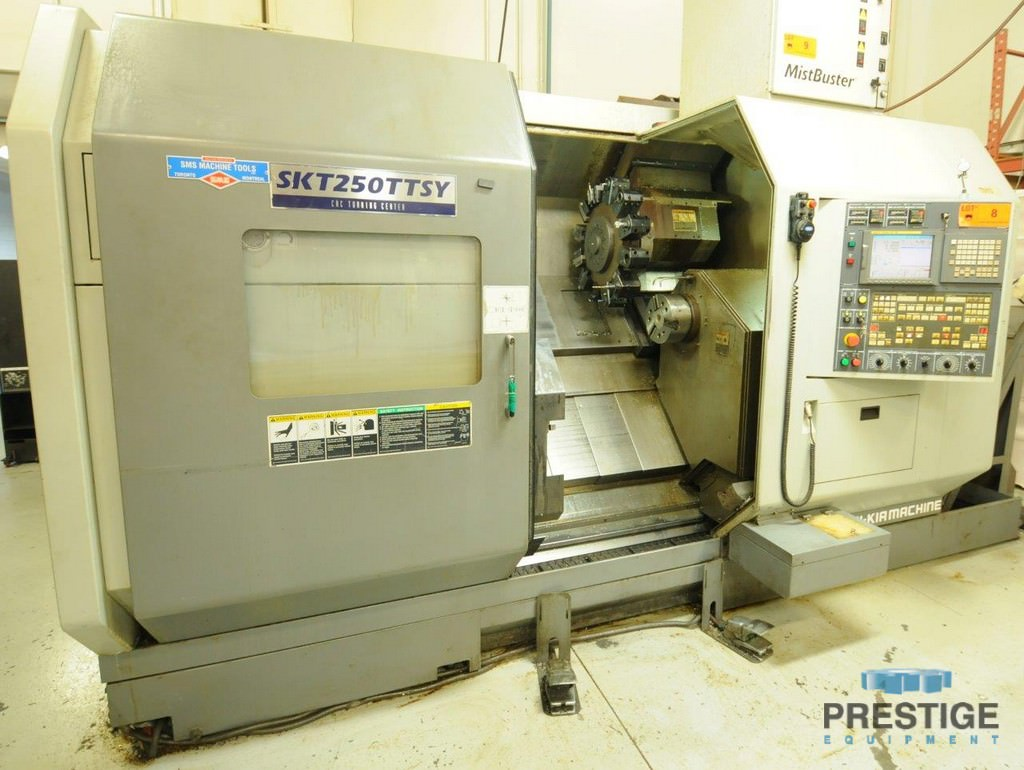 HYUNDAI-KIA-SKT-250-TTSY-7-Axis-Twin-Spindle-CNC-Turning-Center