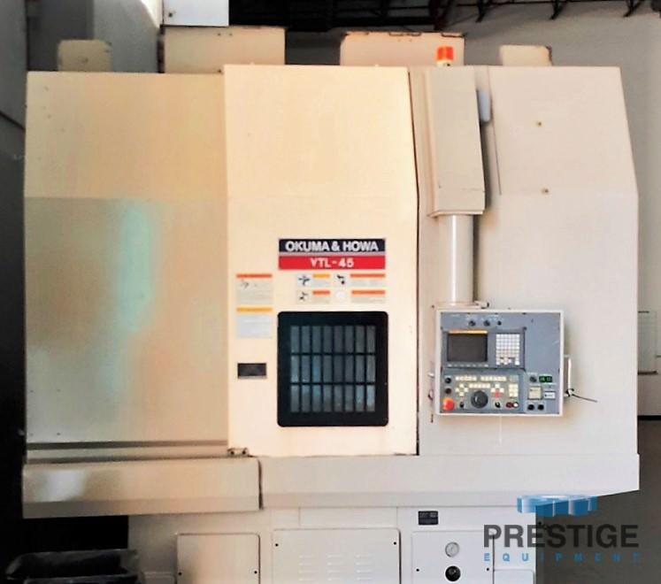 Okuma & Howa 4-Axis VTL-45M CNC Vertical Turning Center/ w/Milling