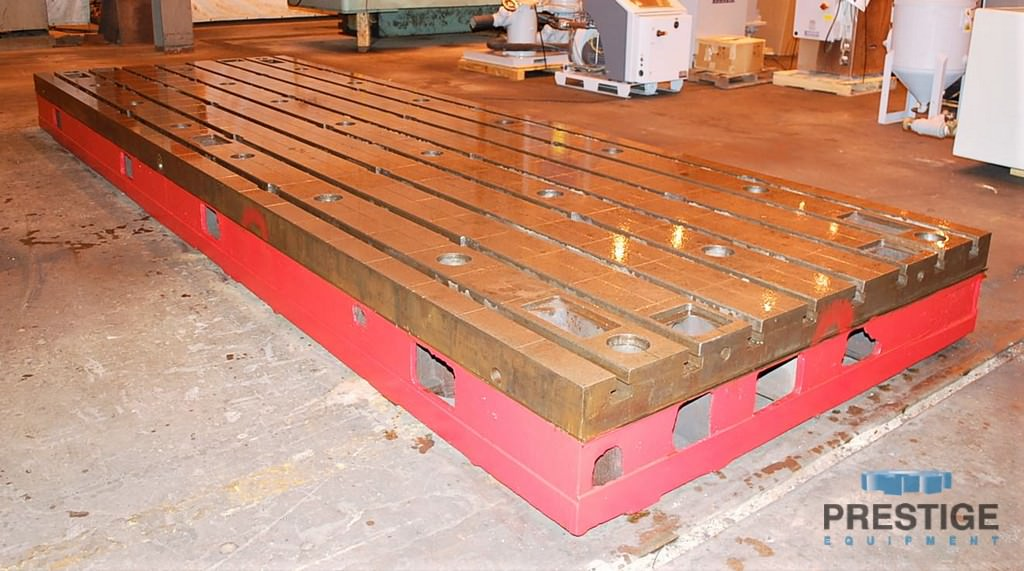 Floor Plates, T-Slotted, 1981 MM  x 5994 MM  x 400 MM  Cast Iron, (2) Available, Matched