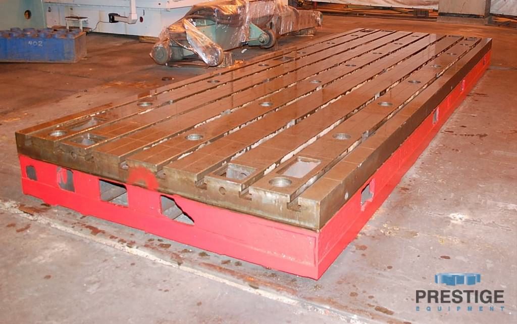 Floor Plates, T-Slotted, 1981 MM  x 5994 MM  x 400 MM  Cast Iron, (2) Available, Matched -30985a