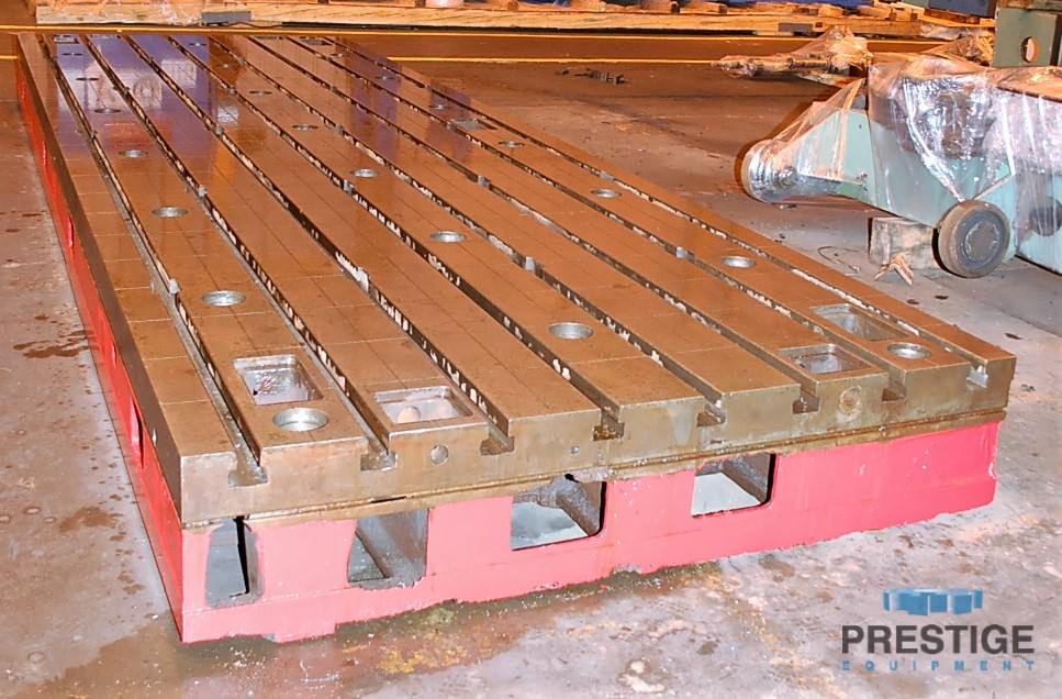 Floor Plates, T-Slotted, 1981 MM  x 5994 MM  x 400 MM  Cast Iron, (2) Available, Matched -30985c