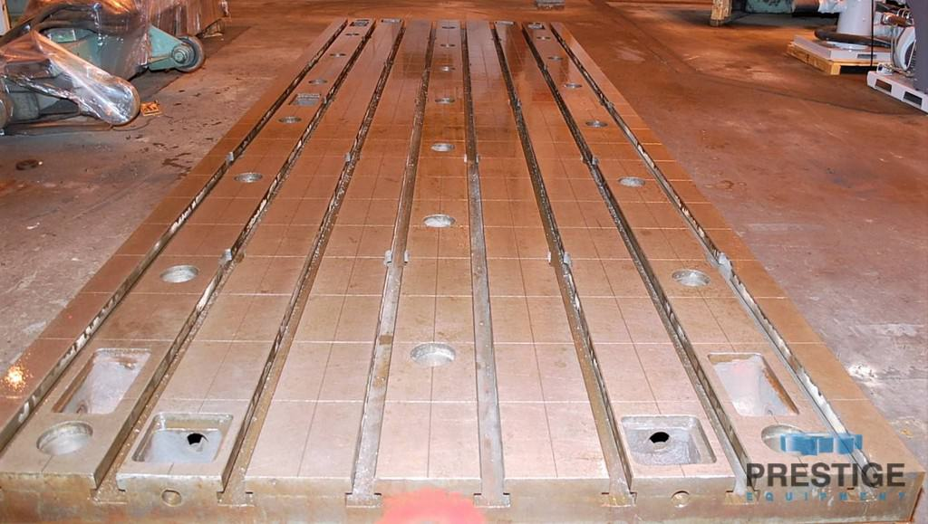 Floor Plates, T-Slotted, 1981 MM  x 5994 MM  x 400 MM  Cast Iron, (2) Available, Matched -30985d