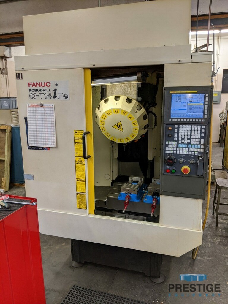 FANUC Robodrill Alpha T14iFe 4-Axis CNC Drilling and Tapping Center