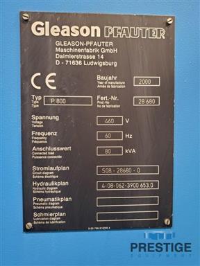 Gleason Pfauter P800 CNC Gear Hobber-31163h