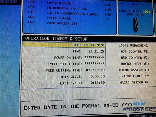 HAAS EC 1600 CNC HMC w/ Center B-AXIS Rotary Table   -31328e