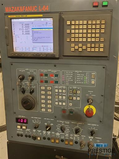 Mazak Space Gear U44 2500 Watt Laser-31335B