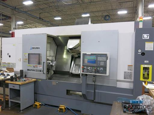 Okuma Multus B-400-W 1500 Mill Turn CNC Lathe
