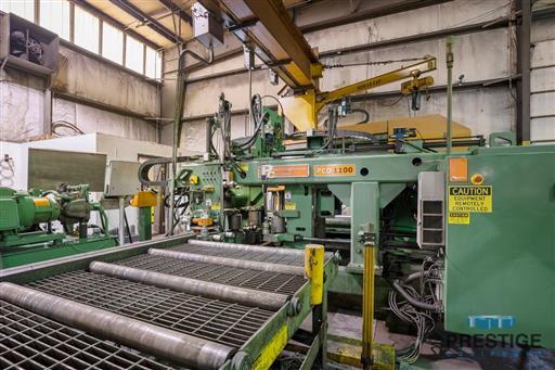 Peddinghaus PCD1100 Beam Drill & Meba 1140/510 Saw Line With Conveyor & Transfers