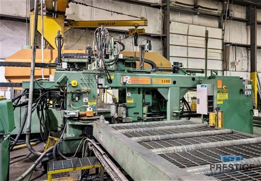 Peddinghaus PCD1100 Beam Drill & Meba 1140/510 Saw Line With Conveyor & Transfers-31409a