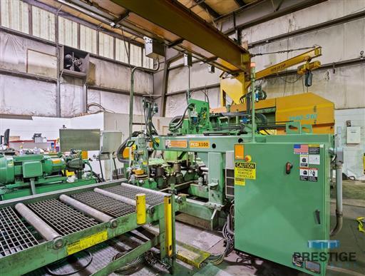Peddinghaus PCD1100 Beam Drill & Meba 1140/510 Saw Line With Conveyor & Transfers-31409b