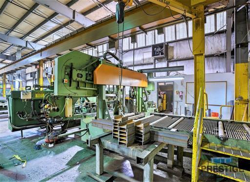 Peddinghaus PCD1100 Beam Drill & Meba 1140/510 Saw Line With Conveyor & Transfers-31409d