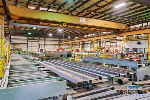 Peddinghaus PCD1100 Beam Drill & Meba 1140/510 Saw Line With Conveyor & Transfers-31409m