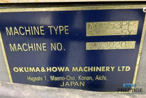 Okuma & Howa Millac 853PF-5X CNC Aerospace Profiler & Machining Center-31464m