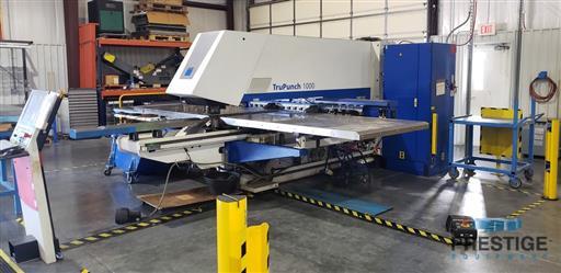TRUMPF TruPunch 1000 19 Ton CNC Punch & Contouring Machine