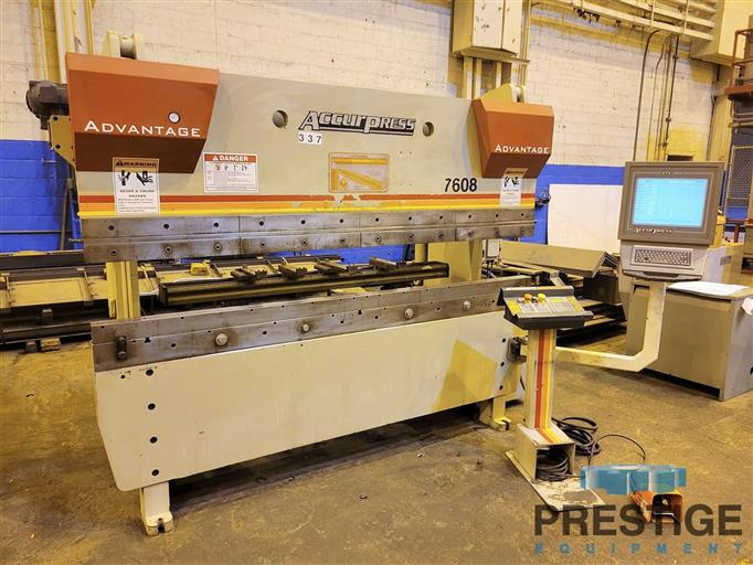 Accurpress 7608 Advantage  60 Ton x 8'  3-Axis CNC Hydraulic Press Brake With ETS3000-31651a