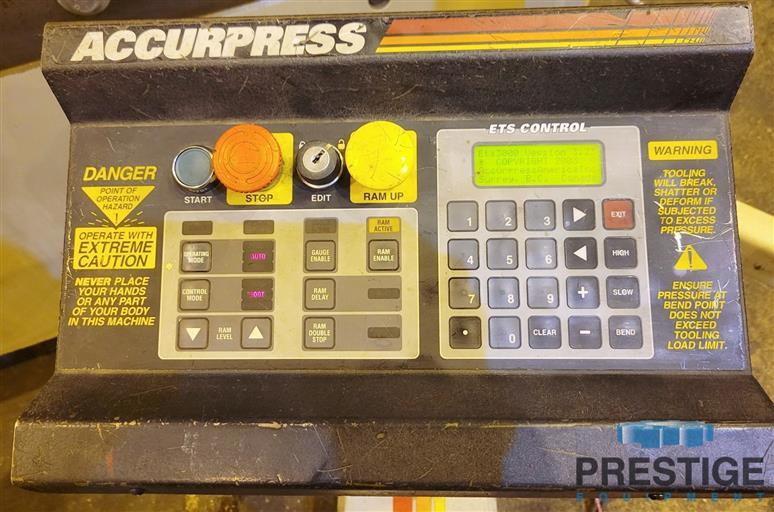 Accurpress 7608 Advantage  60 Ton x 8'  3-Axis CNC Hydraulic Press Brake With ETS3000-31651f