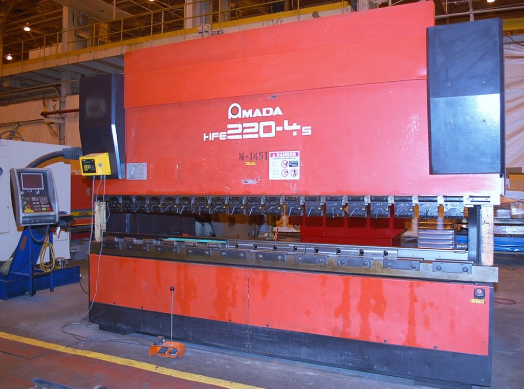 Amada-HFE-220-4-242-Ton-CNC-Down-Acting-Hydraulic-Press-Brake