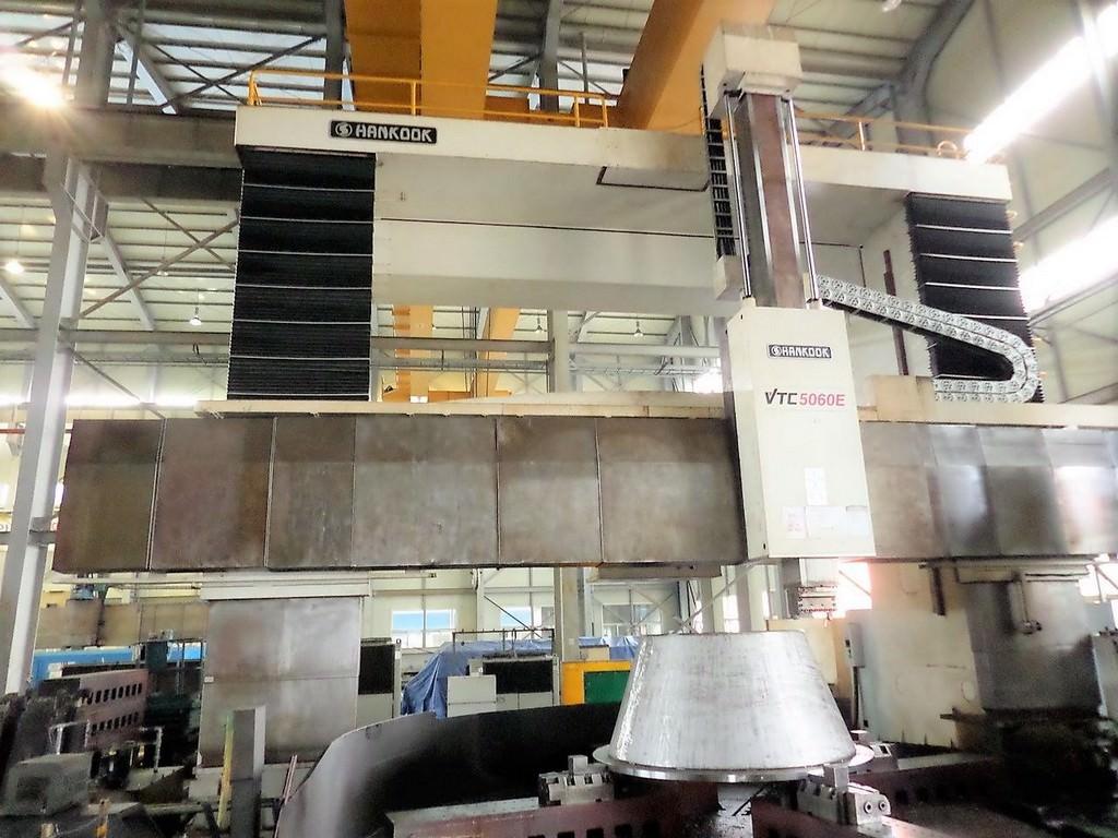 196-Hankook-VTC-5060E-CNC-Vertical-Boring-Mill-w-Milling