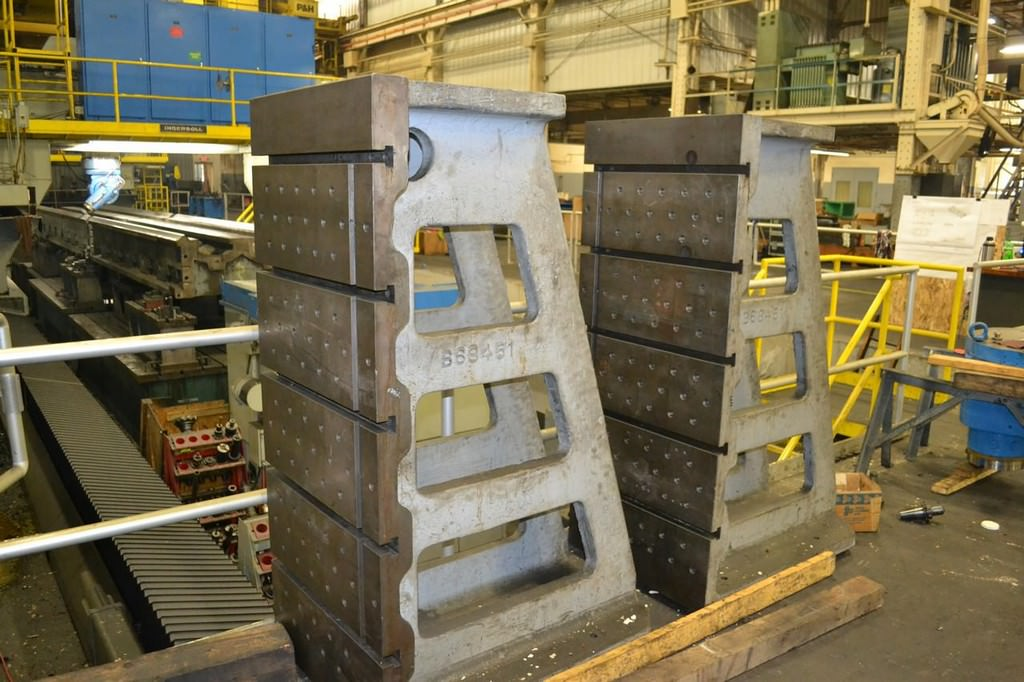 (2)-67-x-28.5-x-42-T-Slotted-Cast-Iron-Angle-Plates