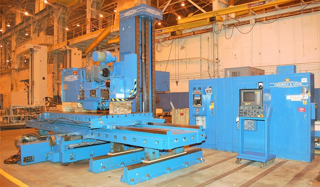 6-Giddings-&-Lewis-5-Axis-CNC-Table-Type-Horizontal-Boring-Mill