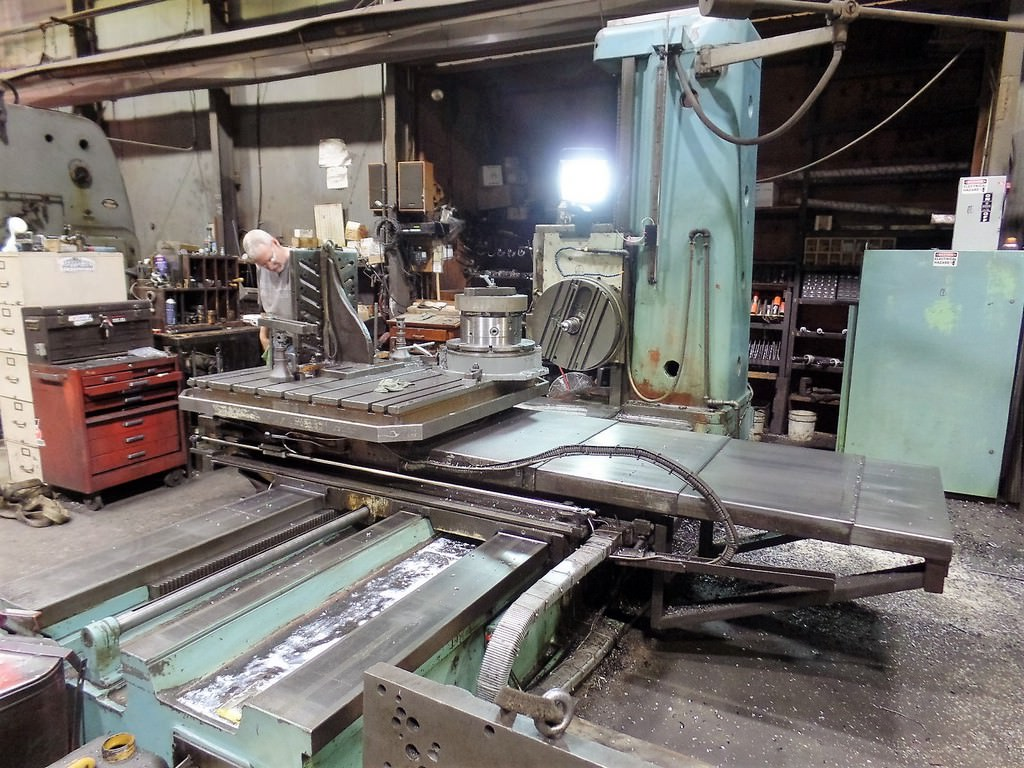 Tos-W-100A-4-Table-Type-Horizontal-Boring-Mill