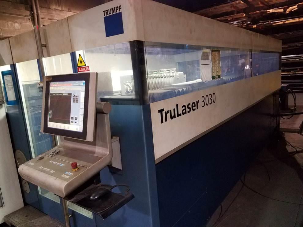 TRUMPF-TruLaser-3030-5000-Watt-CNC-CO2-Flying-Optic-Laser