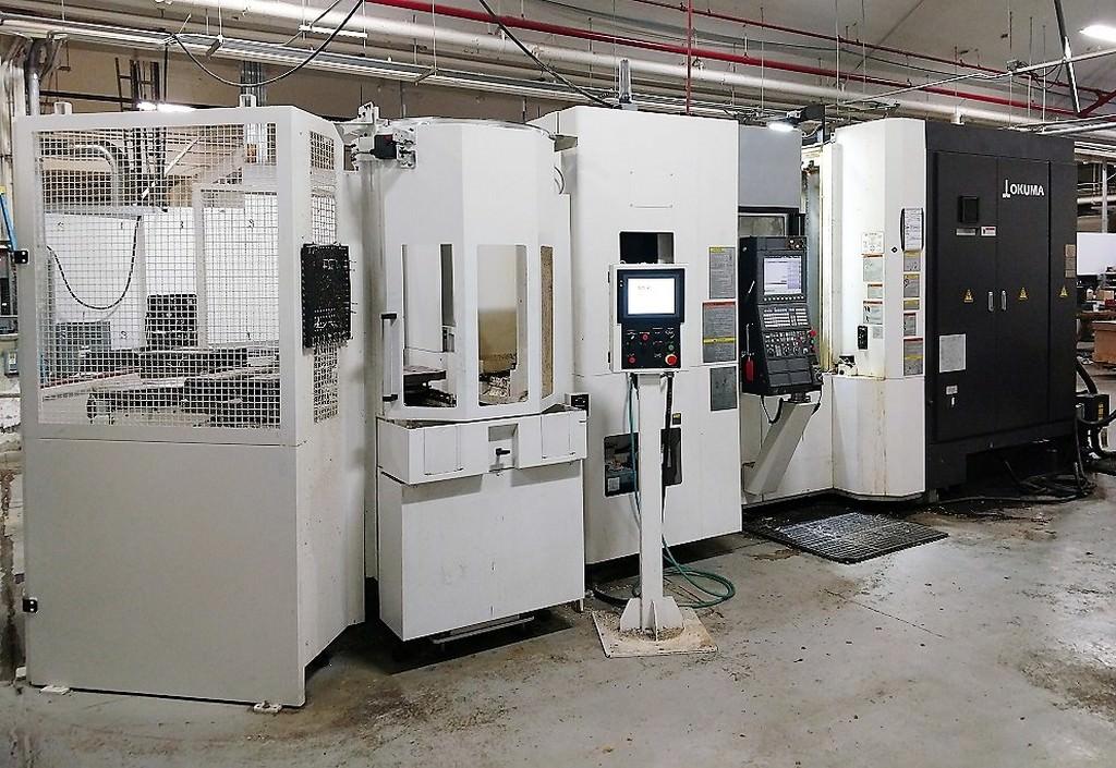 OKUMA-MB-5000H-CNC-4-Axis-Horizontal-Machining-Center-With-6-APC