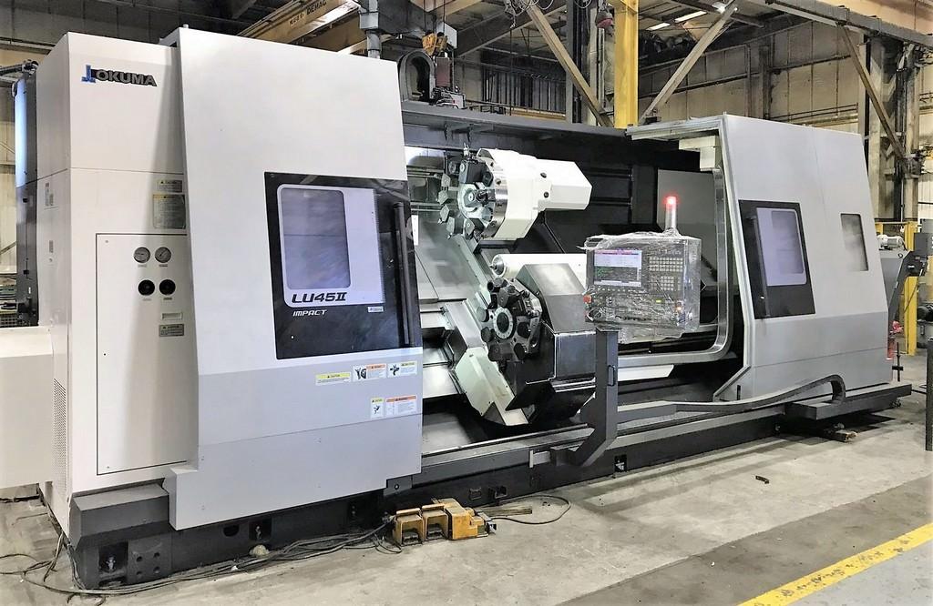 OKUMA-LU-45II-M-3000-CNC-Turning-Center-with-Live-Milling