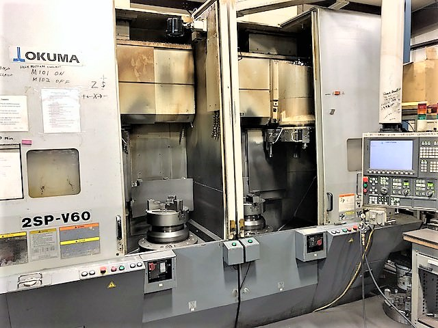 Okuma-2SP-V60-Dual-Spindle-CNC-Vertical-Lathe