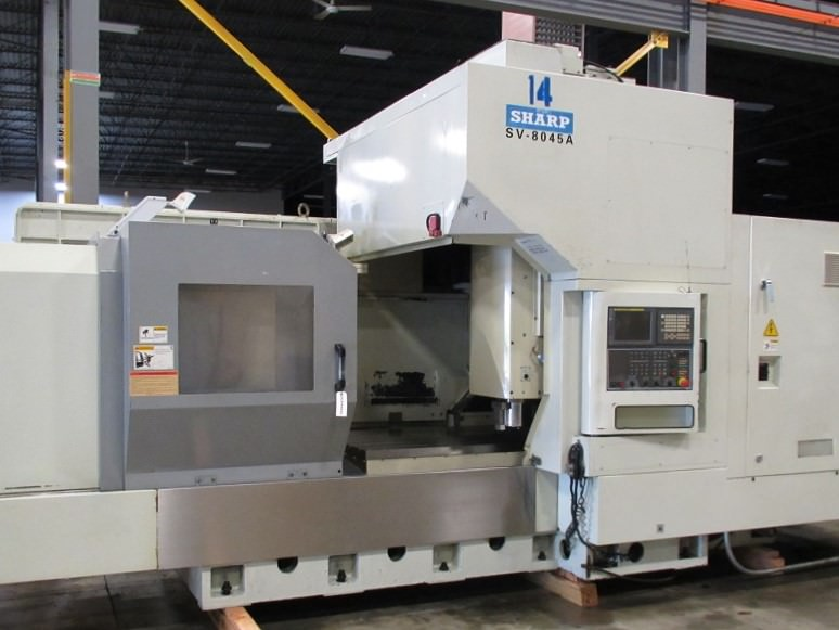 SHARPE-SV8045A-CNC-Bridge-Type-Vertical-Machining-Center