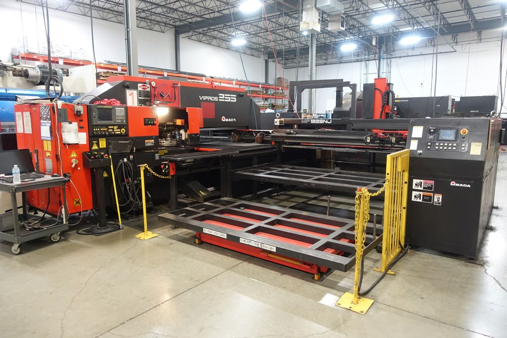 AMADA-Vipros-255-22-Ton-Hydraulic-CNC-Turret-Punch-Press-W-Load-Unload