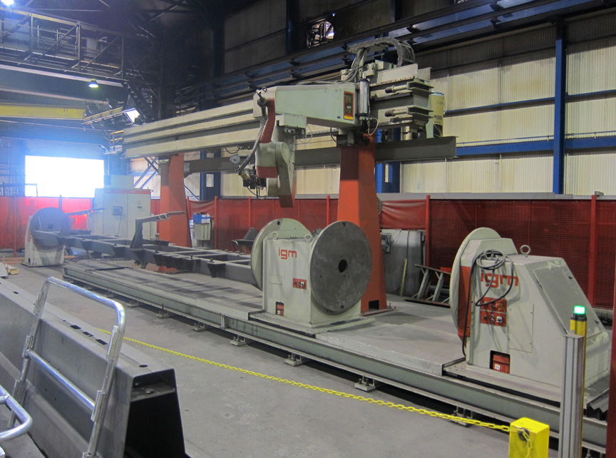 Heavy Plate Fabrication Robotic Welding Cells Laser Fms