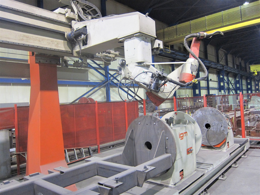 Heavy Plate Fabrication Robotic Welding Cells Laser Fms