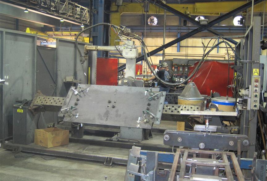 heavy plate fabrication robotic welding cells laser fms cell rh prestigeequipment com