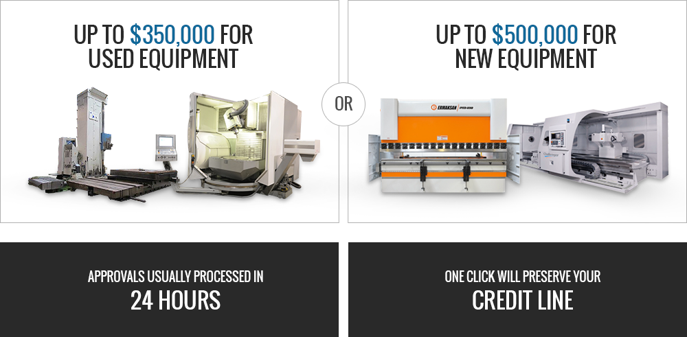Prestige Equipment offers up to $350,000 for used equipment & $500,000 for new equipment financing.